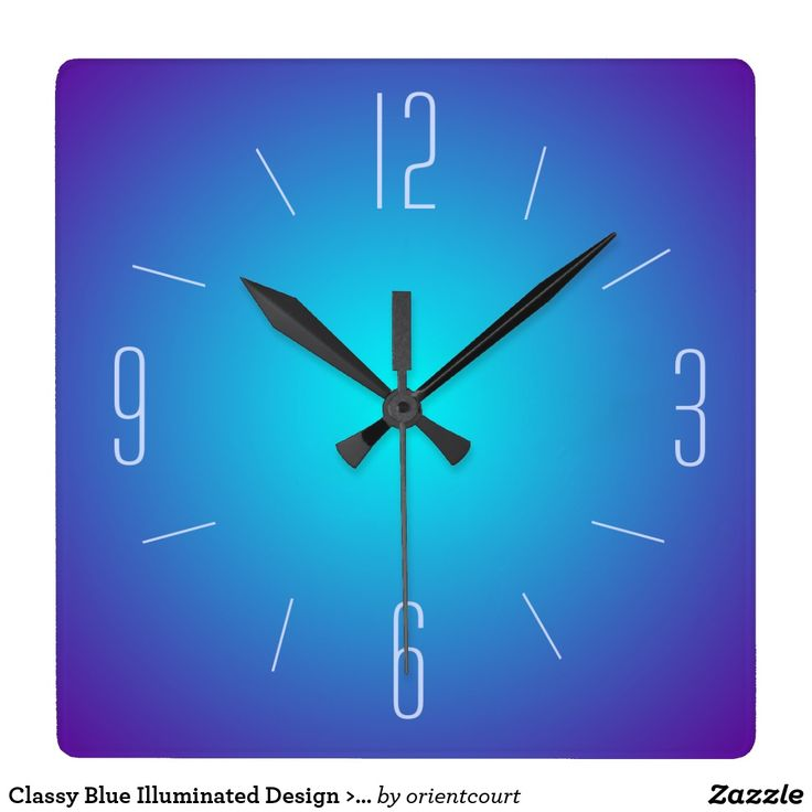 Classy Blue Illuminated Design >  Wall Clock