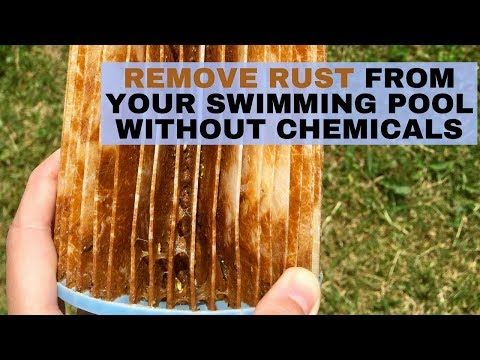 how to remove rust from pool