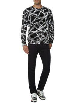 McQ Alexander McQueen Zwarte sweater met grafische all-over print
