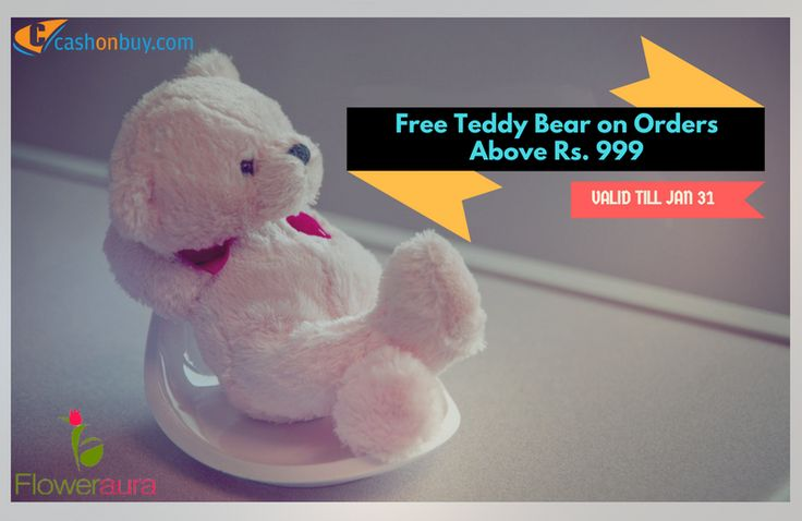 Get #Free Teddy Bear on #Order Above Rs.999 #cashonbuy #cashback #comparison #discount #price_comparison #shopping #lifestyle #likeforlike #cool #likeus