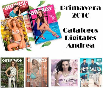 Catálogos de Andrea Primavera 2016, en formato digital. Descubre modernos zapatos y ropa de moda para mujer, hombre e infantil