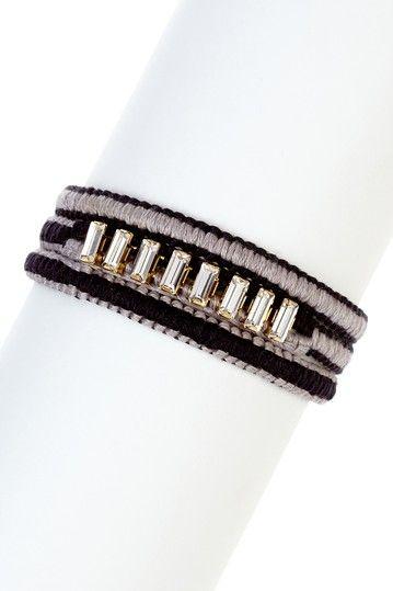 Chan Luu Baguette Rhinestone Wrap Bracelet by BCBGMAXAZRIA on @HauteLook