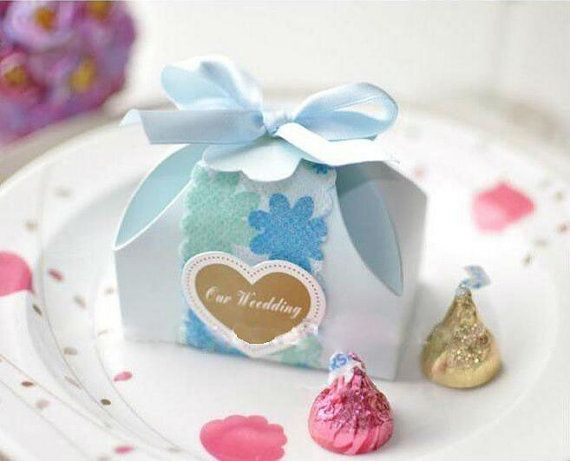 Items Similar To Blue Favor Box Rectangular Wedding Bo Birthday Candy Baby Shower Cupcake 10 On Etsy