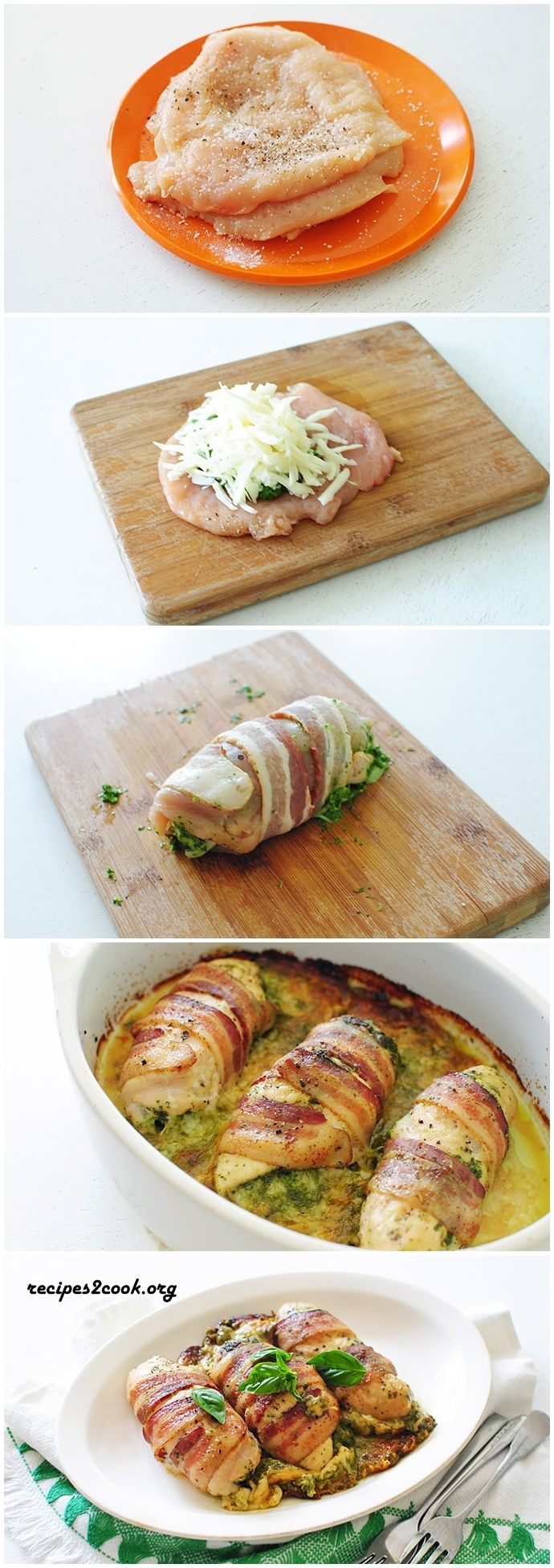 CHEESY BACON-WRAPPED CHICKEN BREASTS