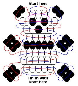 Panda pony beads pattern