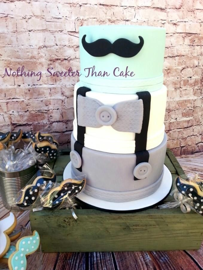 Mister Moustache Baby Shower   Cake By Kylie @ Nothing Sweeter Than Cake