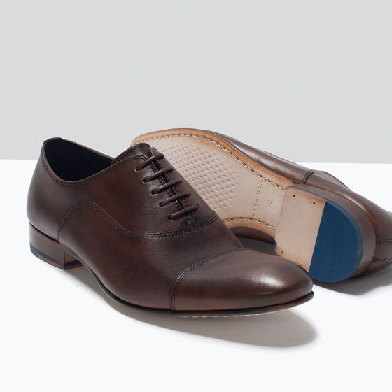 LEATHER OXFORD SHOE from Zara