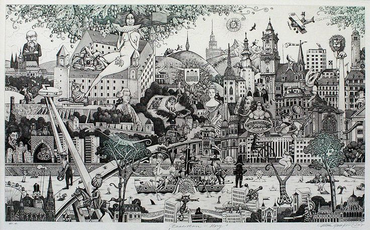 BRATISLAVA-STORY, lept / etching