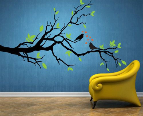 Best Paredes Con Motivos Images On Pinterest Wall Murals - Vinyl decals for walls etsy