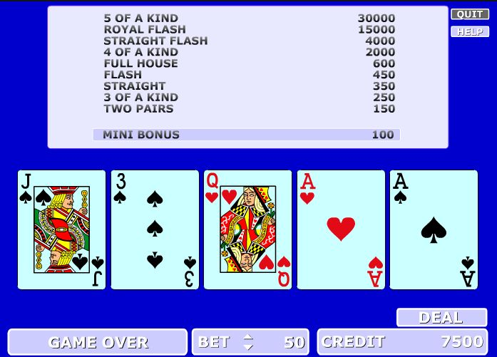 Poker ca la aparate