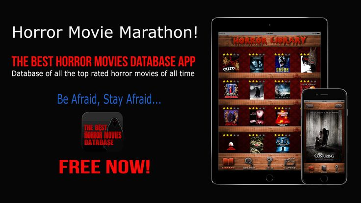 HORROR MOVIE MARATHON!! All the top rated horror movies of all time.  Search with year 2014 to see all the top rated horror released last year.   #horrormovies #scarymovies #horror #horrorfilms #horrormovienews #ilovehorrormovies #horrormovieapp #app #iphoneapp #movieapp