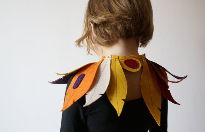 DIY dressing up like a bird ... back view