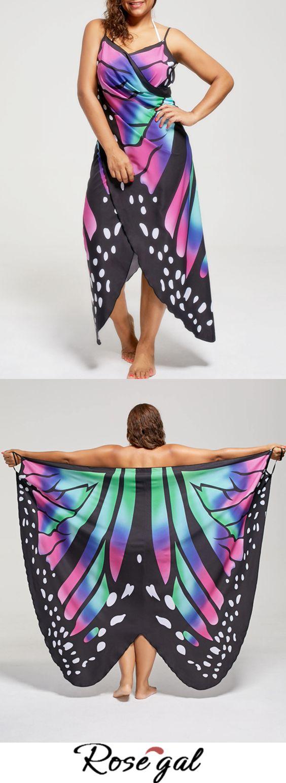Free shipping worldwide.Plus Size Butterfly Beach Wrap Cover Up Dress.#butterfly#beach#swimwear#fashion