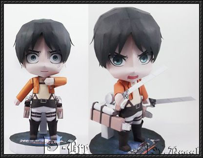 Attack on Titan - Chibi Eren Yeager Ver.3 Free Figure Papercraft Download - http://www.papercraftsquare.com/attack-titan-chibi-eren-yeager-ver-3-free-figure-papercraft-download.html