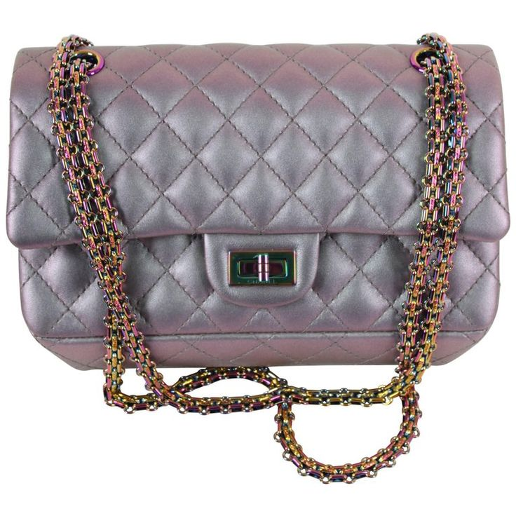 Chanel Medium 2.55 Reissue Double Flap Bag - Lilac Iridescent Mermaid    | 1stdibs.com