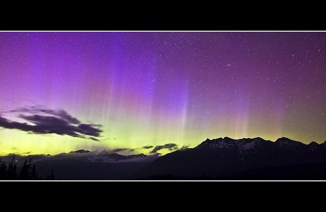 Aurora Borealis - Washington/Canada Border by John Eklund
