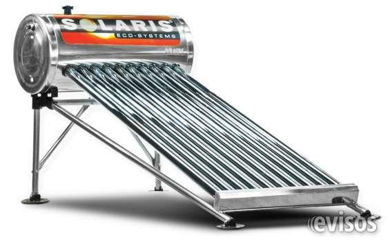 Calentadr solar 8 tubos tanque acero inoxidable