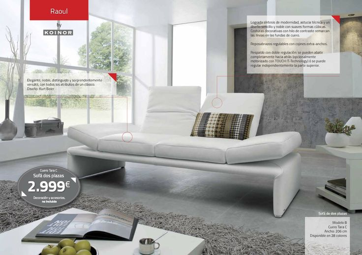 Sofa de KOINOR modelo Raoul en cuero Tara C