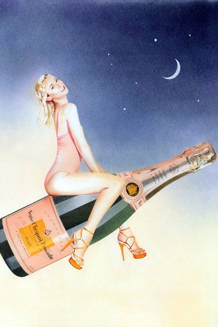 Now, if only we could all enter our parties on giant, flying champagne bottles! Charlotte Olympia's Veuve Clicquot Collection