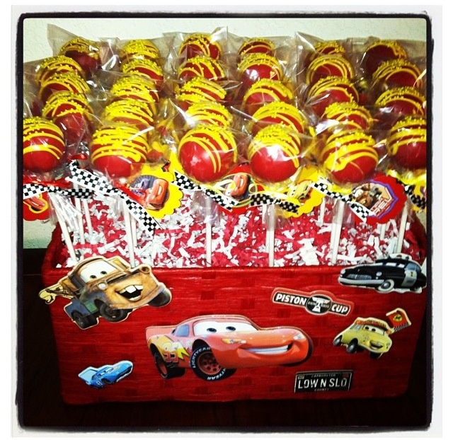 Cars theme Cake Pops!