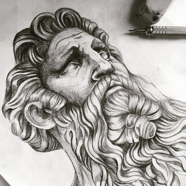 Line Drawing Of Zeus : Best fantasy men patriarchs and statesmen images on