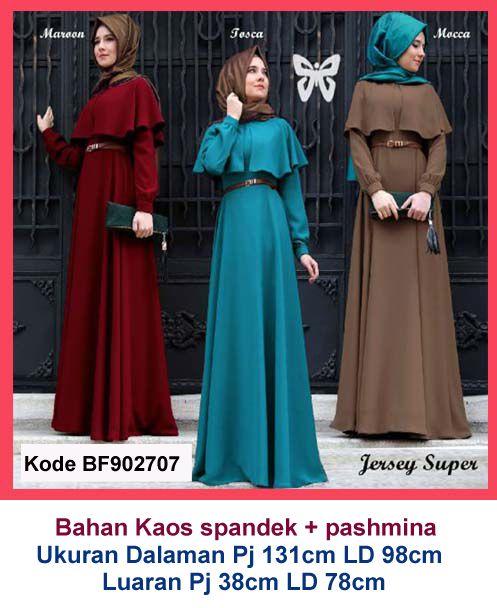 Baju Gamis Modern Terbaru - Detail produk model baju Setelan muslim syiria 707 : Bahan : Kaos spandek Kode : BF902707 Ukuran : Dalaman Panjang 131cm, Lingkar dada 98cm; Luaran Panjang