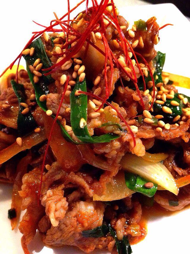 ラム好きにはたまらない。。。コチュジャンを使って夏にぴったりのプルコギ。韓国風ジンギスカンって感じです。ご飯に掛けても