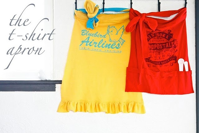 Easy T-shirt Aprons! Must make these!!!