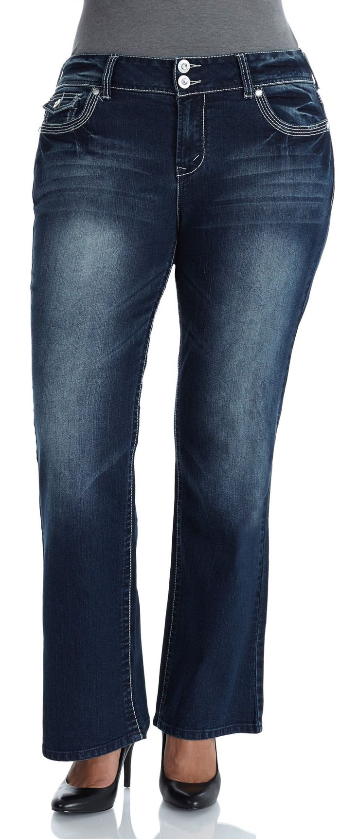 WallFlower Juniors Plus Size Luscious Curvy Bootcut Jeans in