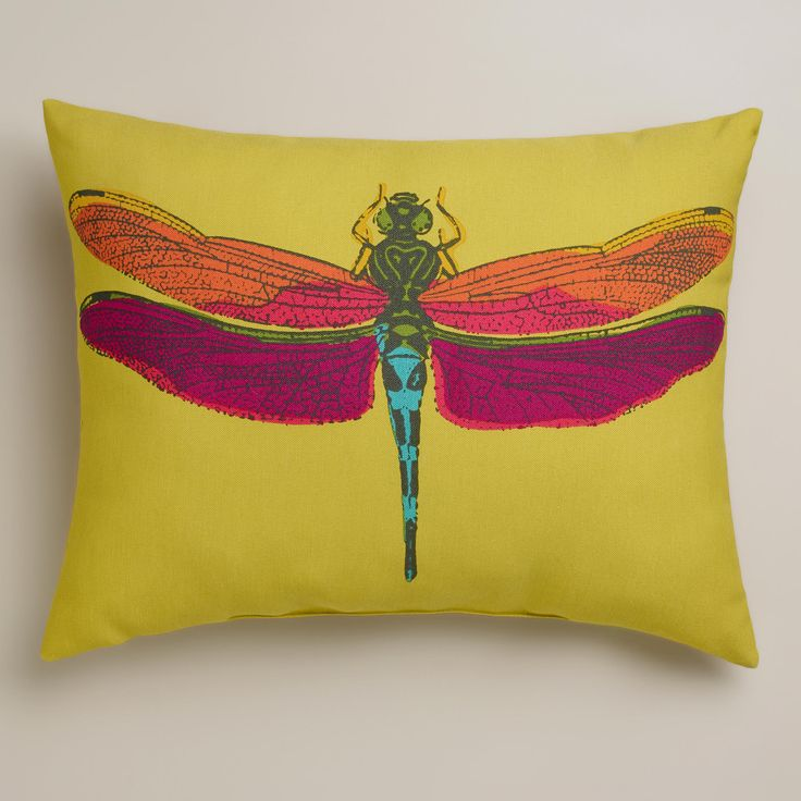 Dragonfly Outdoor Lumbar Pillow World Market