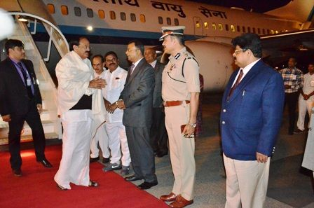 Hon'ble Vice President of India visit to Hyderabad, Arrival at Begumpet Airport