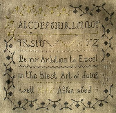Be my Ambition to Excel in the Blest Art of doing well                ...1846