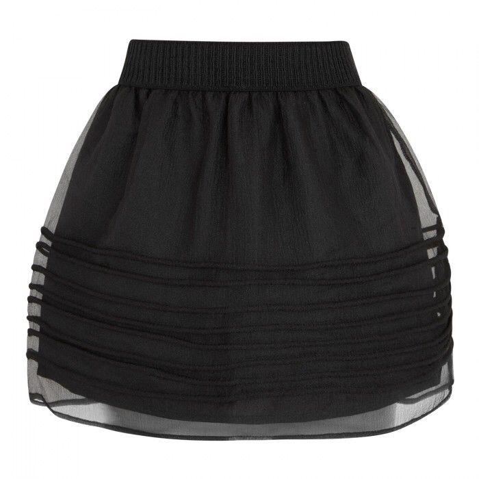 Y.A.S. Kym Semi-Sheer Crepe Skirt | Harvey Nichols