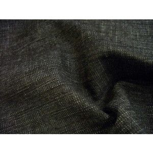 Black Cotton Polyester Denim