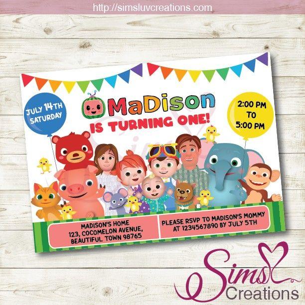 cocomelon birthday printable invitation