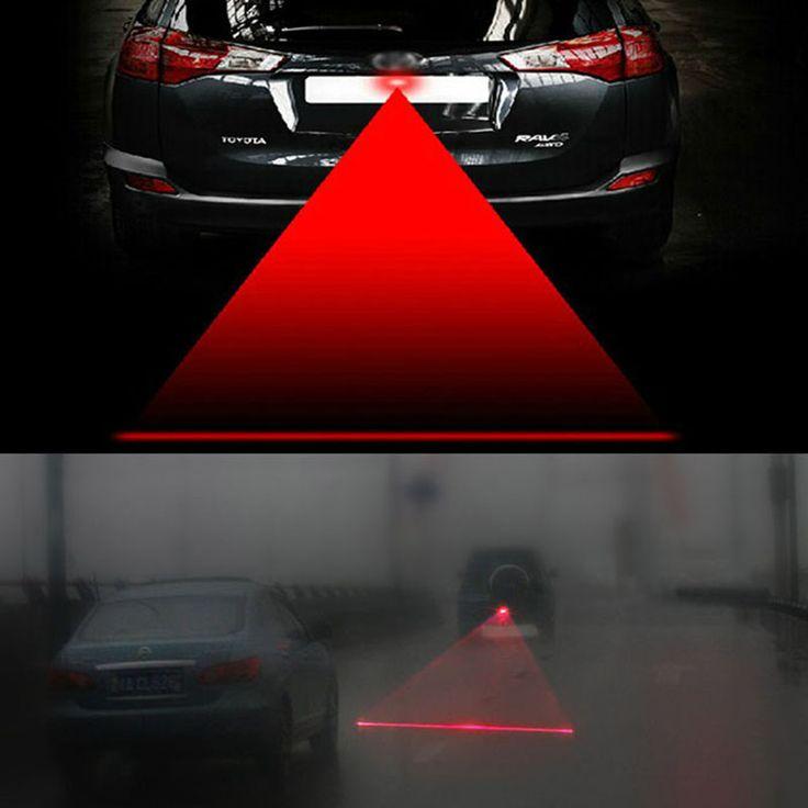 Anti Colisión Trasera Del Coche de la Cola del Laser 12 v led Luz de Niebla del coche Lámpara de Auto Freno de Estacionamiento automático Crianza Luz de Advertencia del coche car styling