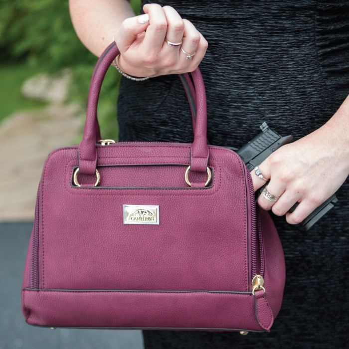 Usually ships 1-2 business days. Cameleon Concealed Carry Handbags...... because self-defense should never go out of style! There are over 20 million women in the United States that own their own fire