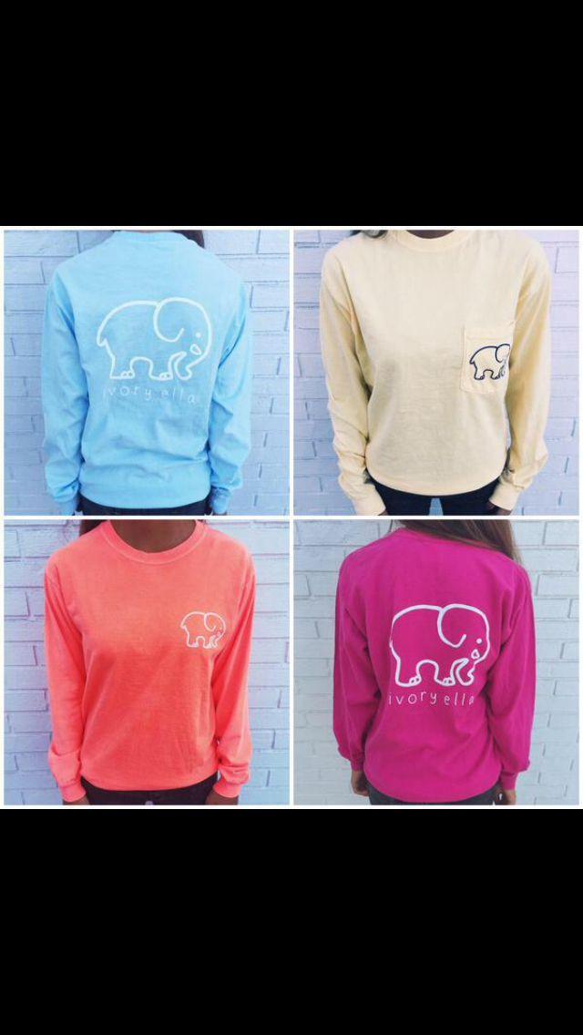 Cutest elephant shirts! Part of the proceeds go to save the elephants!  I NEED ONE
