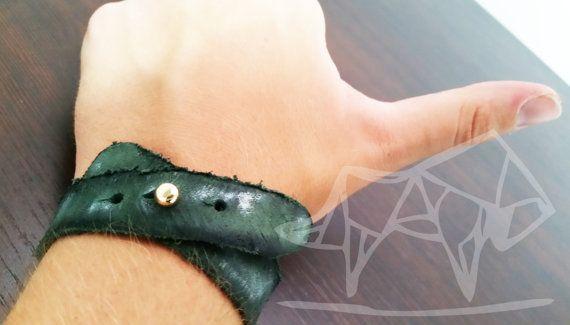 Bracciale Cuoio Rovinato Braccialetto Bracelet di Ltheold su Etsy