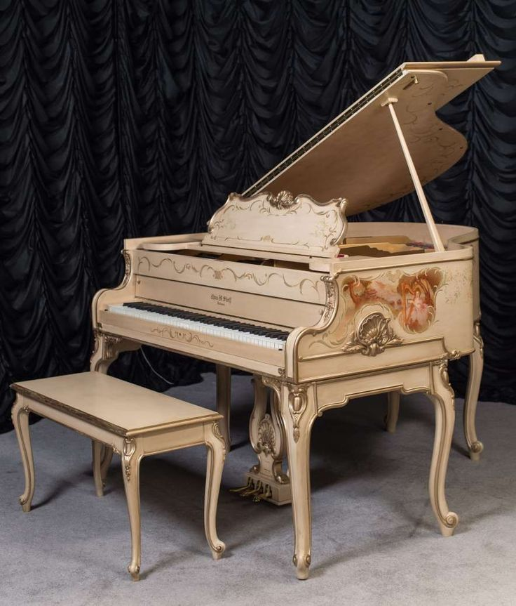 Stieff Country French Style Louis XV Baby Grand Piano | The Antique Piano Shop