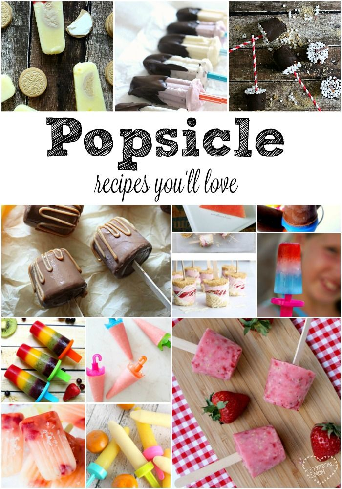 Homemade popsicle recipes you will love. From fudgy chocolate to fresh fruit…