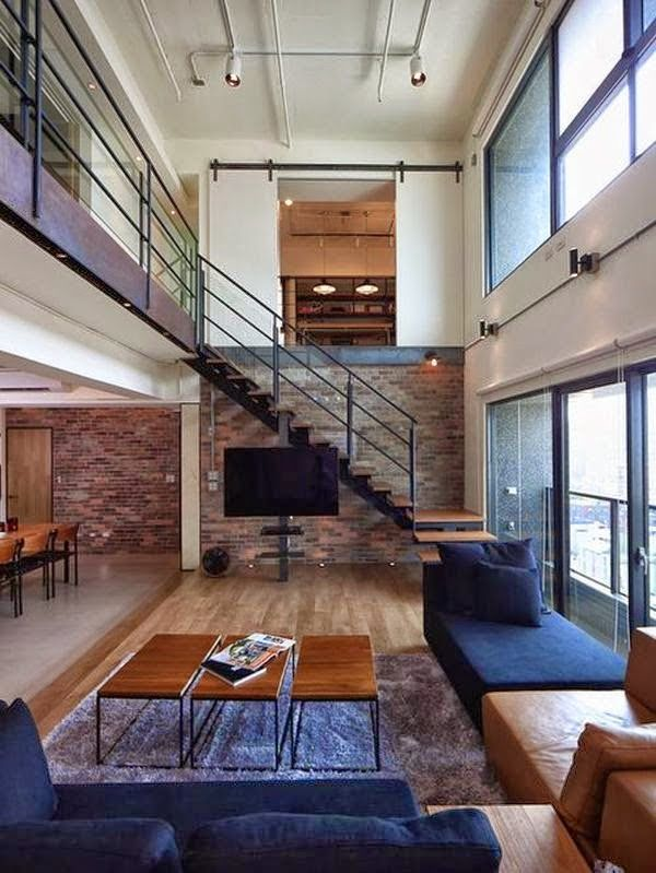 Living Room Condo Ideas With Stairs