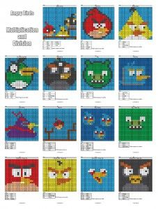Starter Pack Cover Angry Birds Mul Div 16 Page.  Practice your multiplication, division, subtraction, and addition facts while creating your favourite characters.  So much fun.  They even had Disney princess and Mario bros characters.