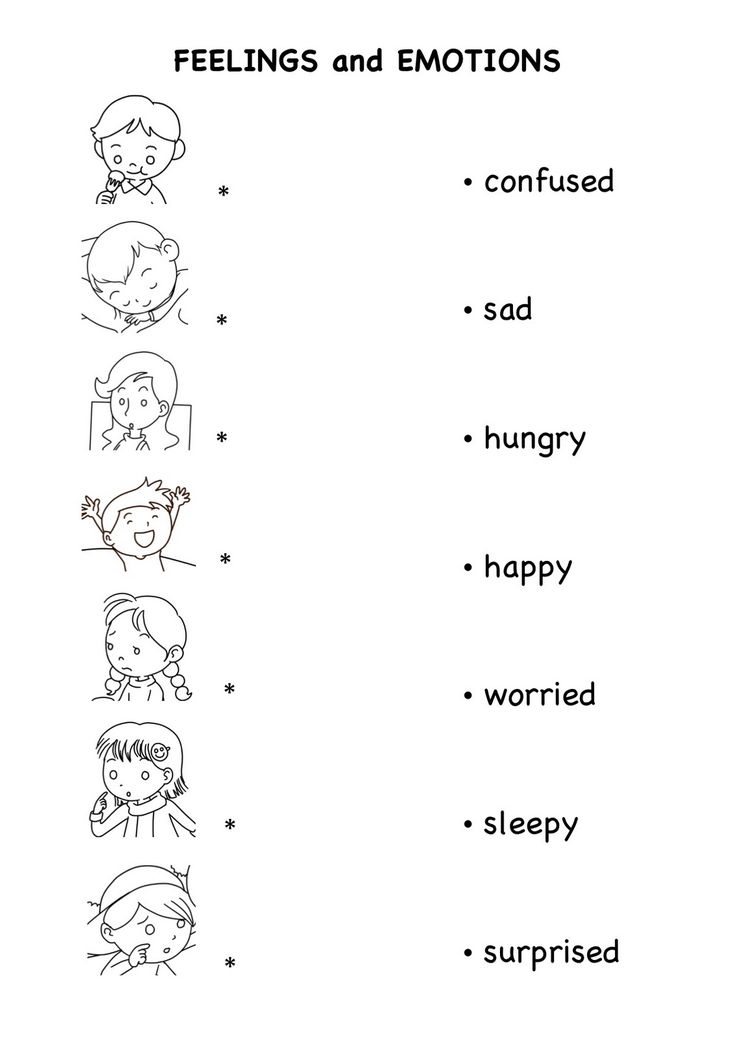 Worksheets On Emotion And Feelings For Kids english