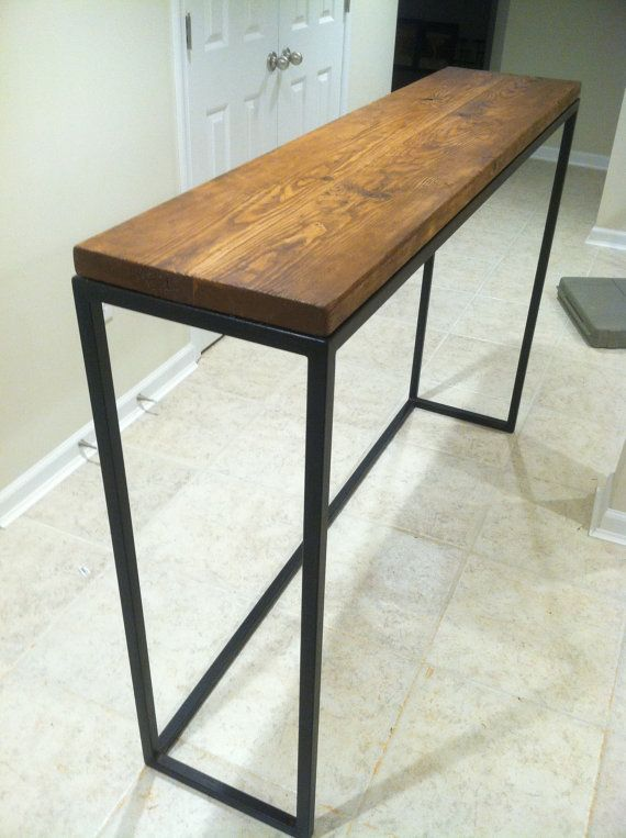 Rustic Reclaimed Wood Steel Leg Bar Table In 2018 High Tables Pinterest And Furniture