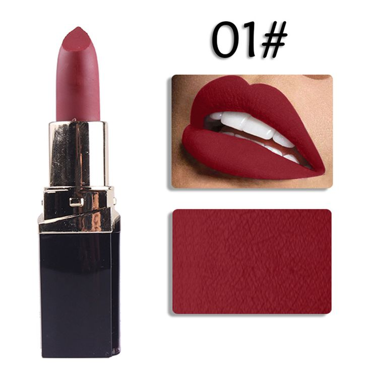 Matte lipstick lips Nutritious waterproof lip makeup Easy to Wear lipstick Long-lasting brand matte lipstick