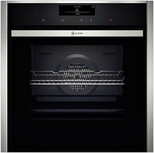 B58CT64N0B  Highlights    Slide&Hide® - the fully retracting oven door       CircoTherm® - Neff's outstanding hot-air system for simultaneous baking and roasting on up to 3 levels       The duo for perfect cleaning: Pyrolysis after heavy use - the oven interior cleans itself.       EasyClean® - the environment-saving option for fast oven cleaning.       FullTouch Control - simple, precise oven control by fingertip touch on the smooth surface of the high resolution TFT colour display…