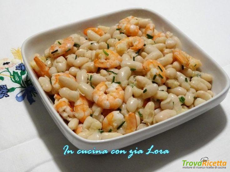 Insalata di fagioli cannellini e mazzancolle  #ricette #food #recipes