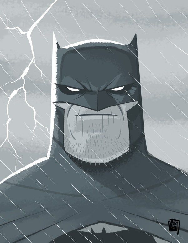Dark knight returns head by cesarvs.deviantart.com on @deviantART