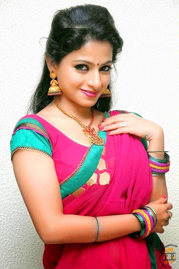 Actress Akshara Menon In Saree New Best Photo Shoot Stills -4727
